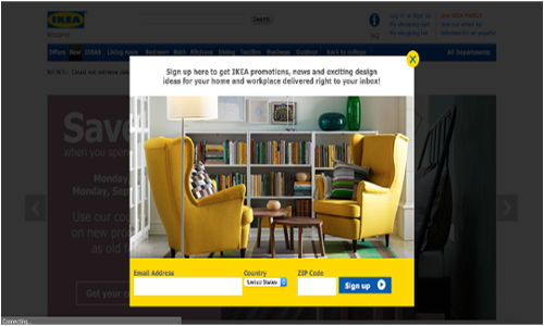Ikea CTA Buttons Examples