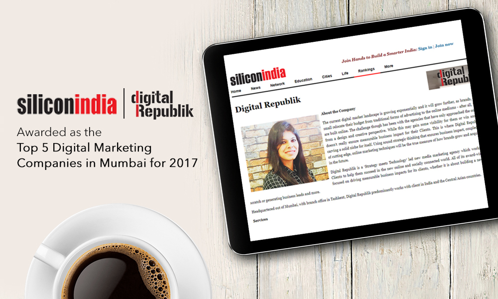 Digital Republik Featured in Silicon India as Top 5 Digital Marketing Companies in Mumbai (2017)